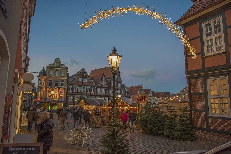 Mercado navidad luces
