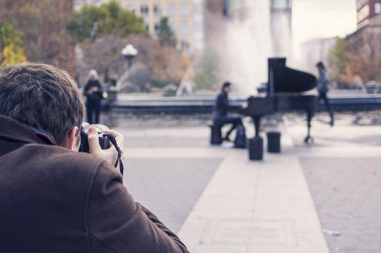 Fotografía ciudad piano