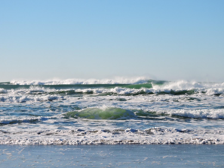 Olas playa cielo