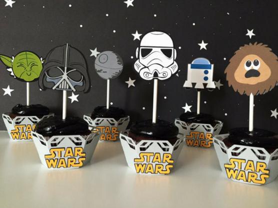 Pasteles decorados para fiesta temática de Star Wars