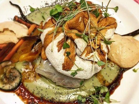 Una elaborada receta de un restaurante vegano de Madrid