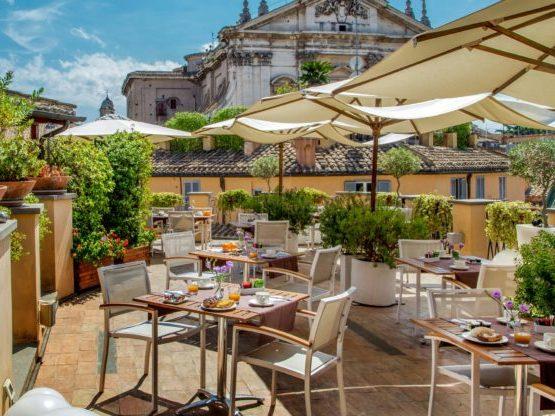 Recorrer las terrazas es una forma de visitar Roma