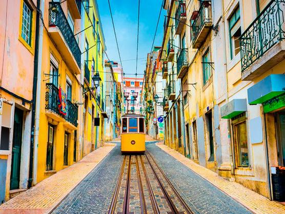 Tranvía amarillo de Lisboa