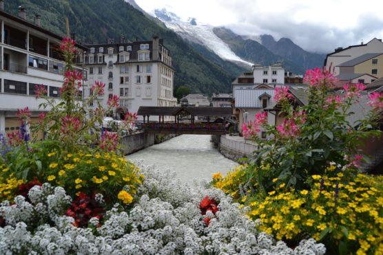 orte in den französischen alpen chamonix